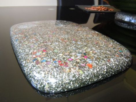 9 x 7 Inches 22.5 x 17.5 cm 23k Orgone Charging and Clearing Board/Placemat
